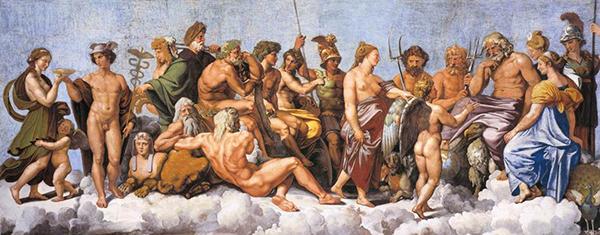 Raffaello, Concilio degli dei