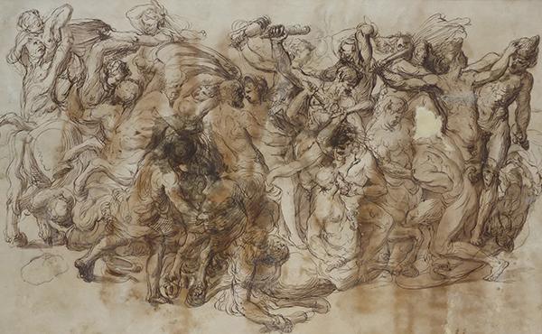 Figura 1 e 2 William Wynne Ryland, Battaglia fra Centauri e Lapiti, acquaforte e acquatinta, Milano, collezione Sandro Ubertazzi.