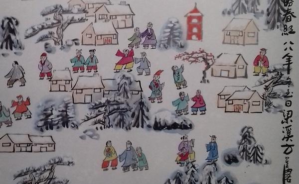 fang-zaholin-villaggio-sotto-la neve