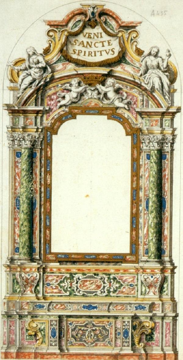 gian-battista-caniana-altare-spirito-santo-basilica-alzano-lombardo-disegno-rovetta-archivio-fondazione-fantoni