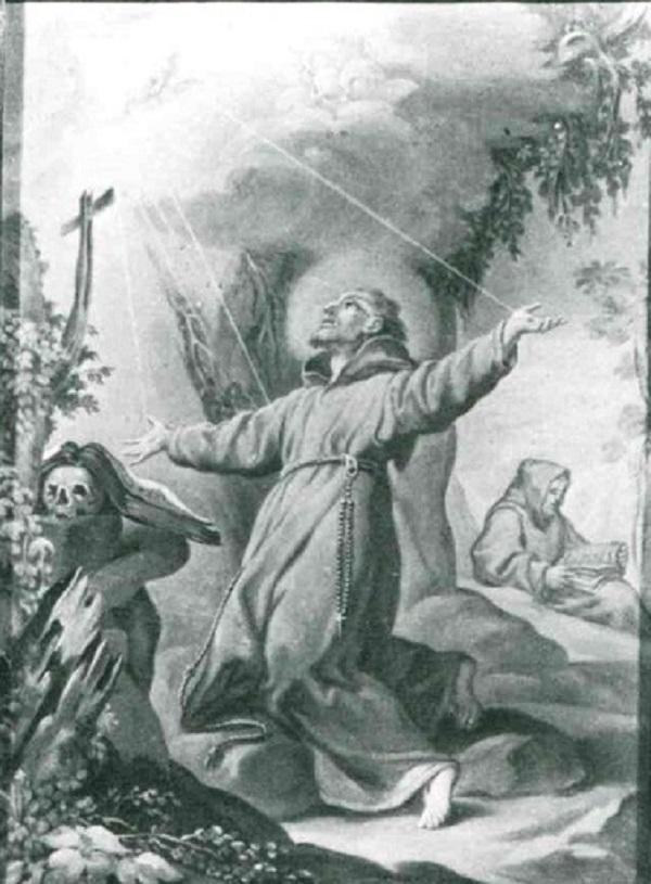 san-francesco-riceve-le stigmate-olio-su-rame-prima-metà-xviii-secolo