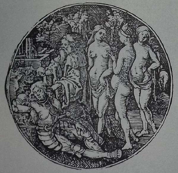 dürer-jorg-breu-giudizio-di-paride-1540-incisione