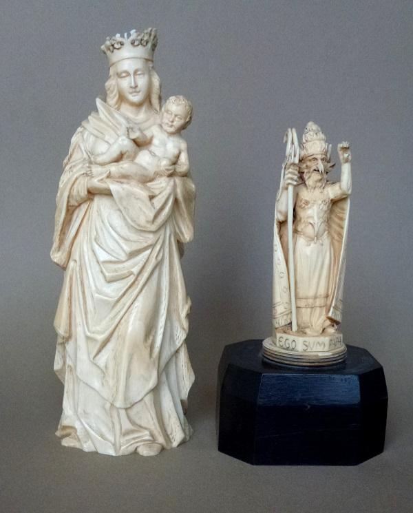 madonna-con-bambino-con-papa-diavolo-avorio-germania-xvi-secolo
