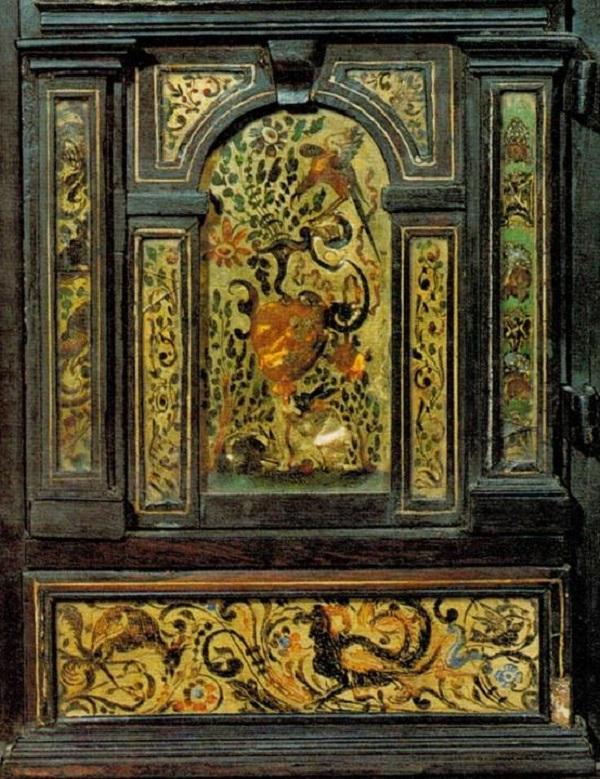 stipo-ebano-vetri-dorati-dipinti-napoli-monogrammista-vbl-milano-castello-sforzesco