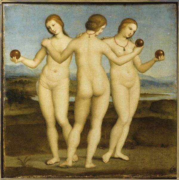 raffaello-tre-grazie-1504-1505-chantilly-musèe-condé