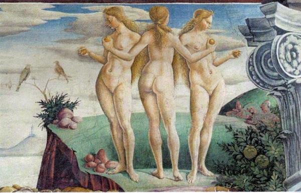 francesco-del-cossa-aprile-tre-grazie-trionfo-venere-1469-70-ferrara-palazzo-schifanoia