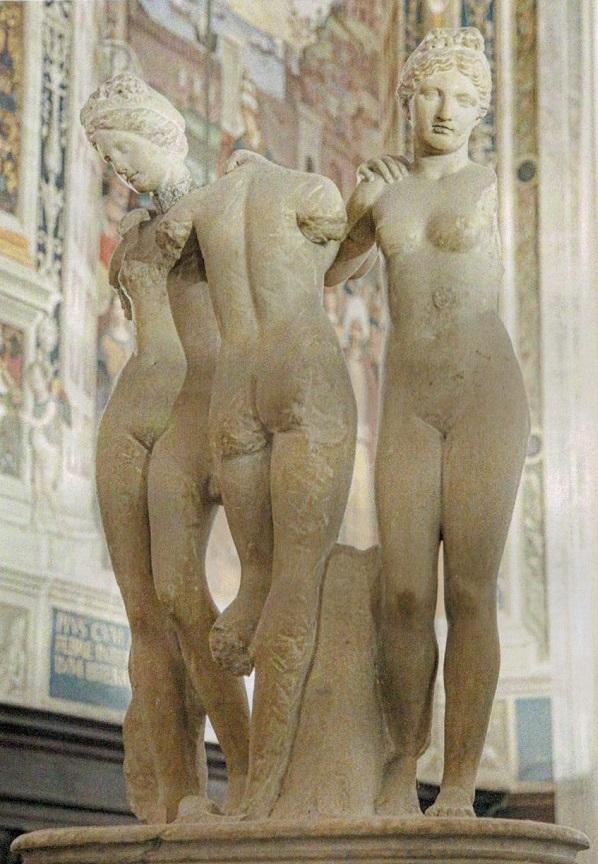 le-tre-grazie-marmo-ii-secolo-dc-siena-duomo-libreria-piccolomini