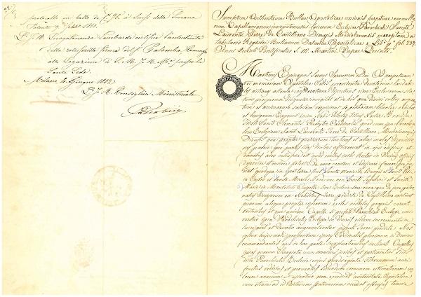 trascrizione-bolla-1852-castiglione-olona-archivio-casa-castiglioni-palazzo-branda-castiglioni